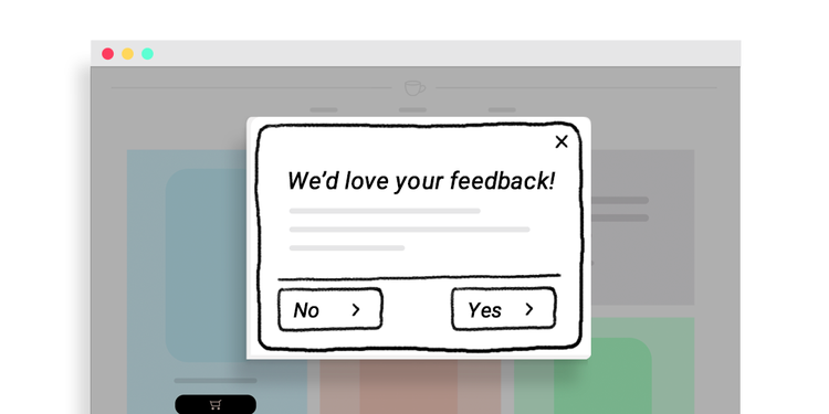 graphic of a popup survey