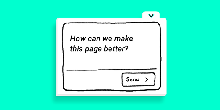 Use a one-question pop-up poll to gather unique feedback on specific web pages