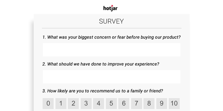 hotjar survey