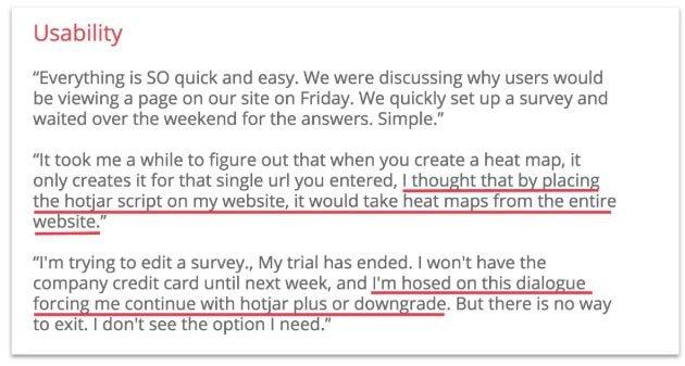 answers to hotjar usability study