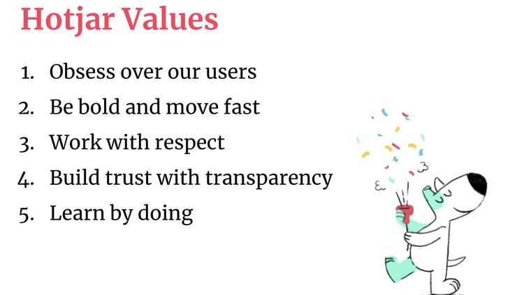 Hotjar company values