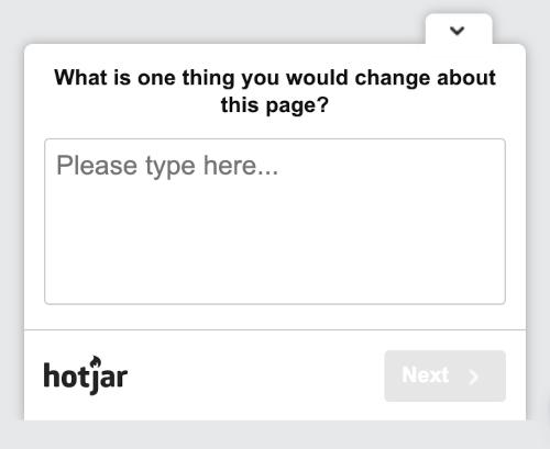 Hotjar-survey-open-ended
