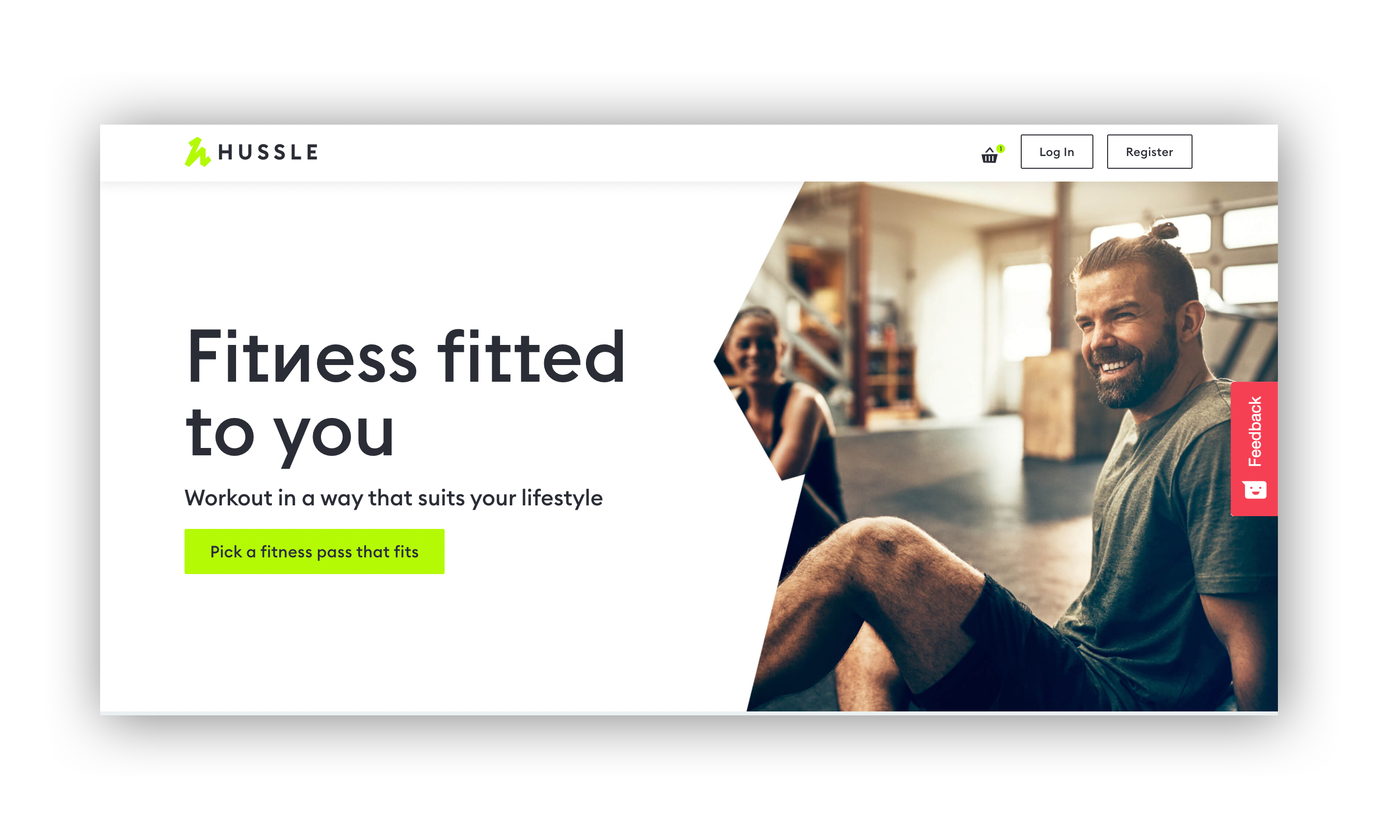 THE LANDING PAGE PROMOTING HUSSLE'S NEW PERSONALISED PASS BUILDER