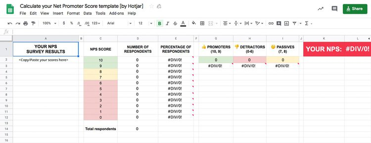 NPS-excel-calculation-template