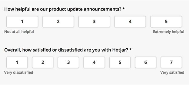 hotjar onsite survey