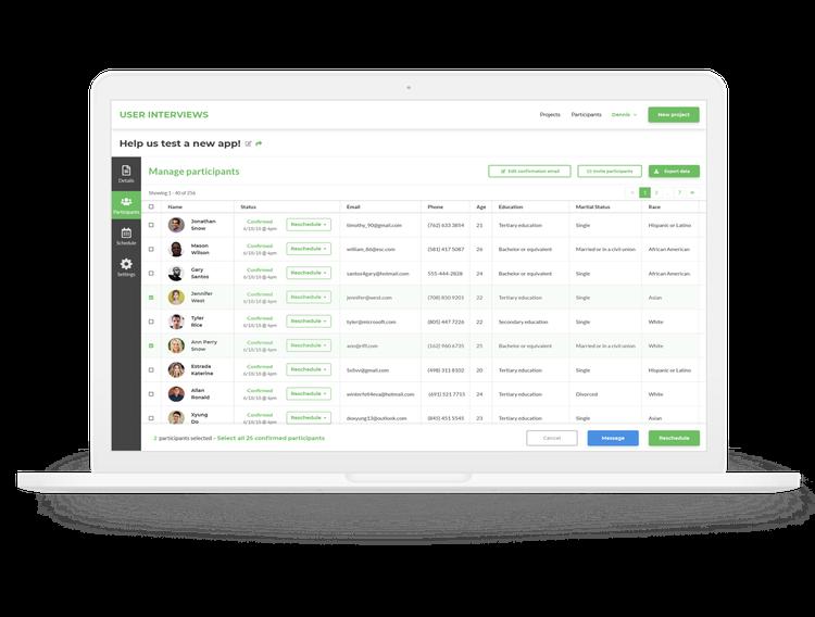User-Interviews-dashboard