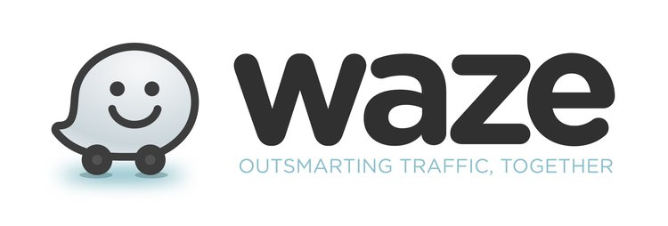 Waze Logo_White with Tagline