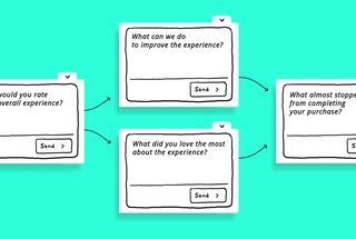 user feedback message flow