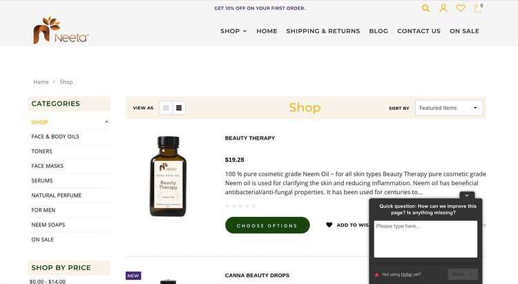 use hotjar on product pages to increase sales