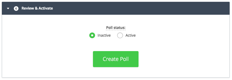 step 7 to create a new Hotjar poll