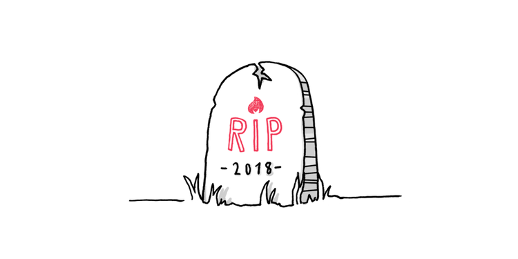 graphic representing the death of a mobile app