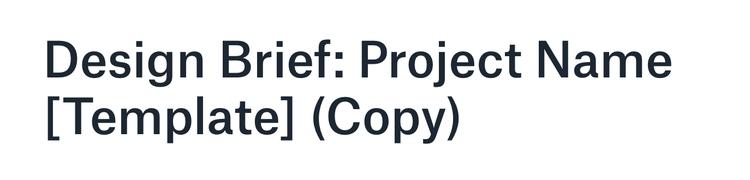 design brief header