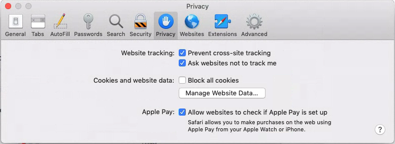 Do Not Track MacOS Safari 12