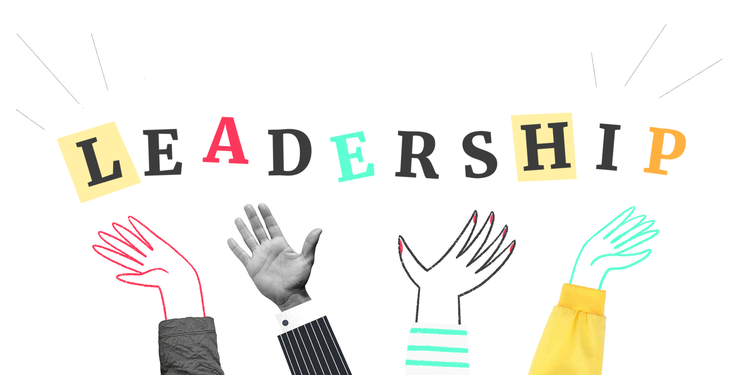 graphic of the word leadership