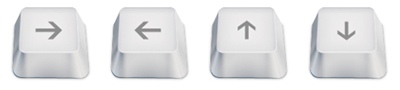 arrow keys shortcuts