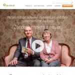 a screenshot of zendesk's homepage