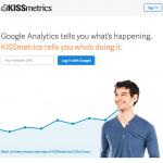 a screenshot of kissmetrics's homepage