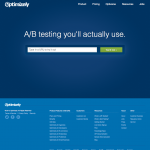 a screenshot of optimizely's homepage