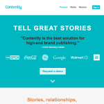 a screenshot of contently's homepage