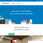 a screenshot of wistia's homepage