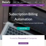 a screenshot of reurly's homepage