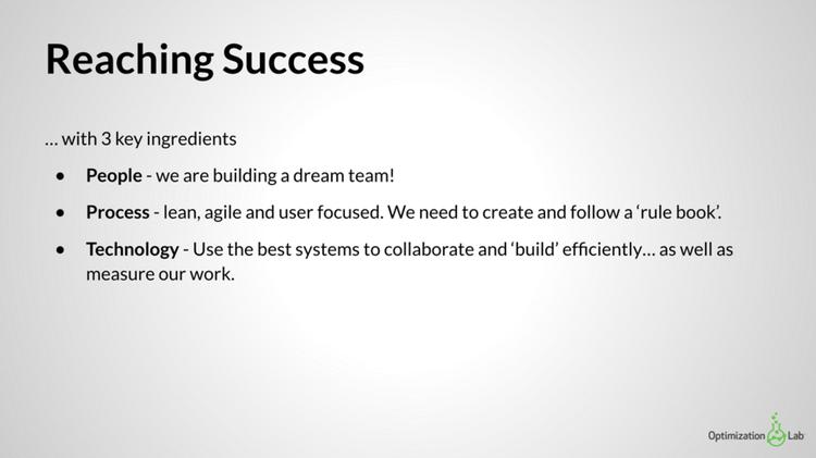 an early Hotjar team meeting slide