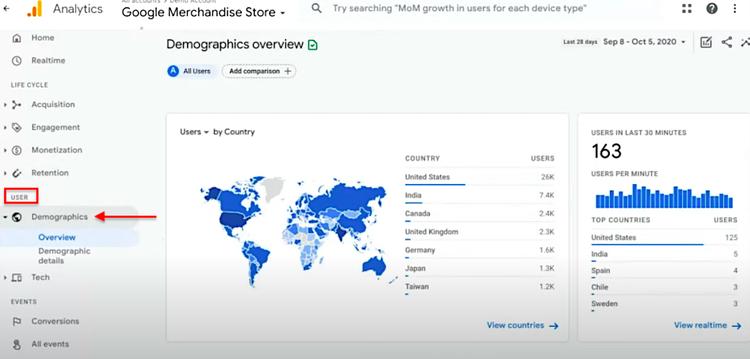 google analytics 4 user demographics