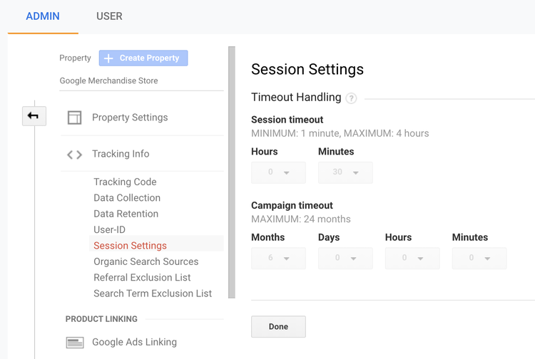 google-analytics-session-settings