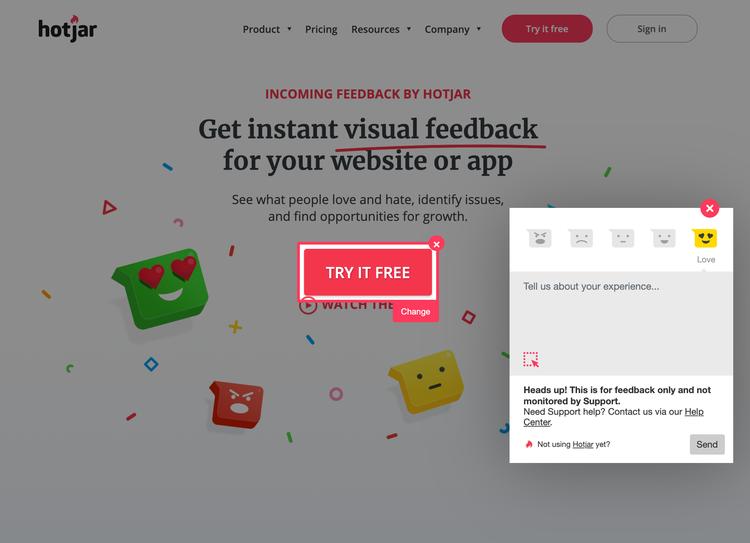 hotjar-incoming-feedback-example