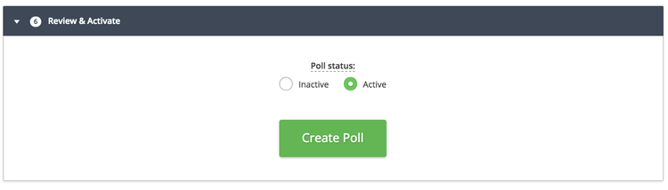 step 7 activate the new Hotjar poll
