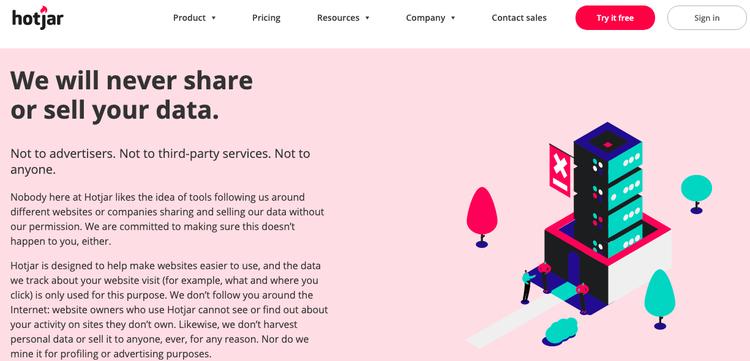 hotjar-privacy-page