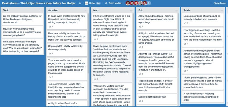 hotjar team trello
