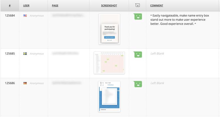 hotjar feedback example