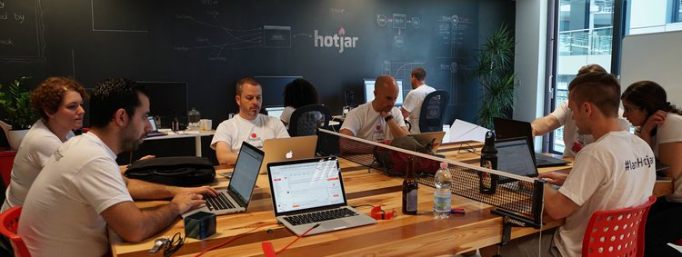 hotjar team working