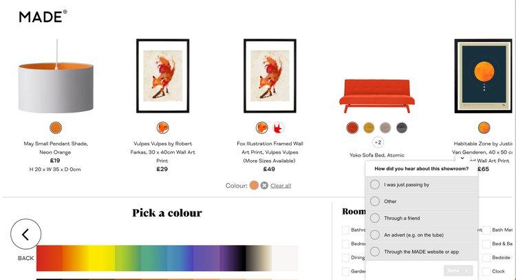 made.com uses hotjar to impove UX