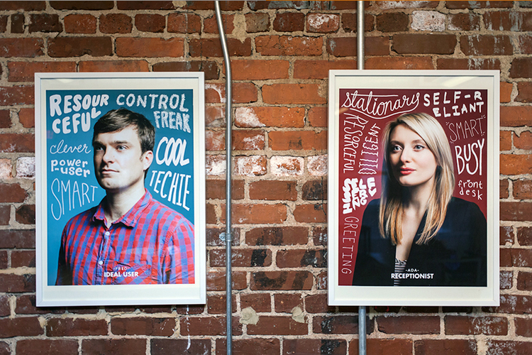mailchimp's user persona wall art