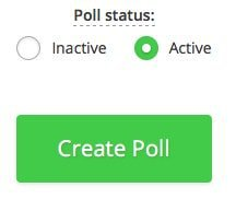 activate the new Hotjar poll