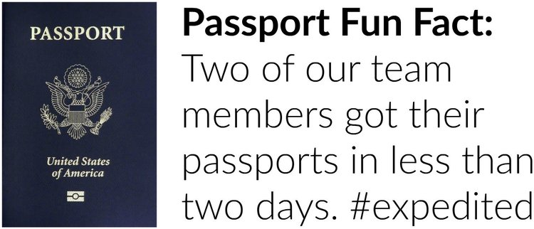 screenshot of a Hotjar passport fun fact