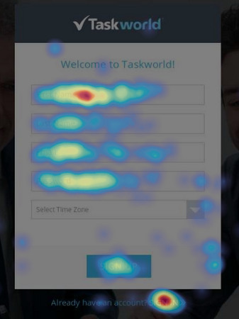 Taskworld uses hotjar heatmaps to improve user experience