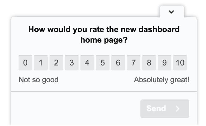 Hotjar Survey example